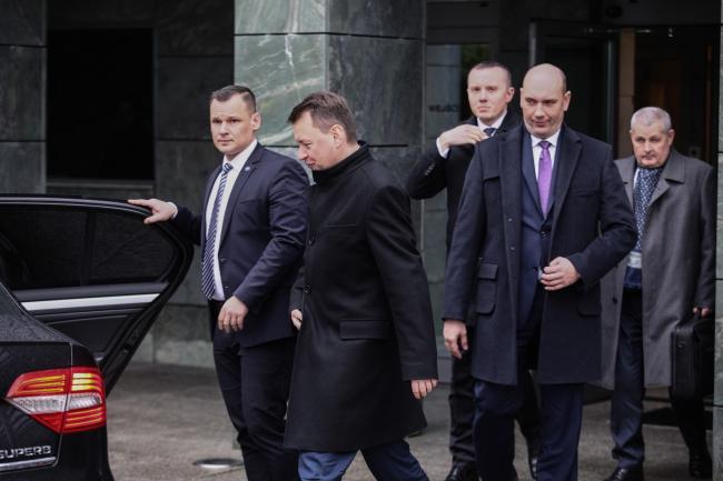 Министр национальной обороны Мариуш Блащак после встречи с президентом Польши.