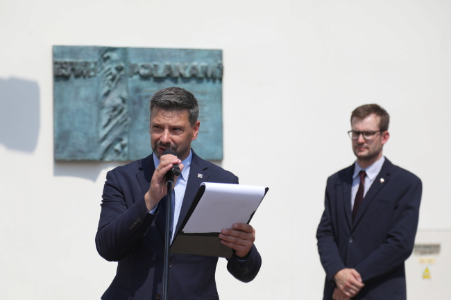 Ліворуч – директор краківського відділення Інституту національної пам'яті Філіп Мусял