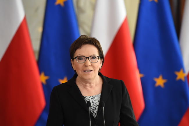 PM Ewa Kopacz announces the ministerial nominations on Monday, 15.06.2015 Photo: PAP/Radek Pietruszka
