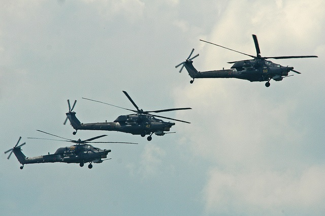 Russian helicopters. Photo: Alan Wilson/Flickr.com      The type of choppers involved in the incident last week reported by Gazeta Polska Codziennie was not specified by the paper.
