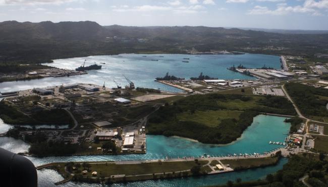 Военная база США на острове Гуам.