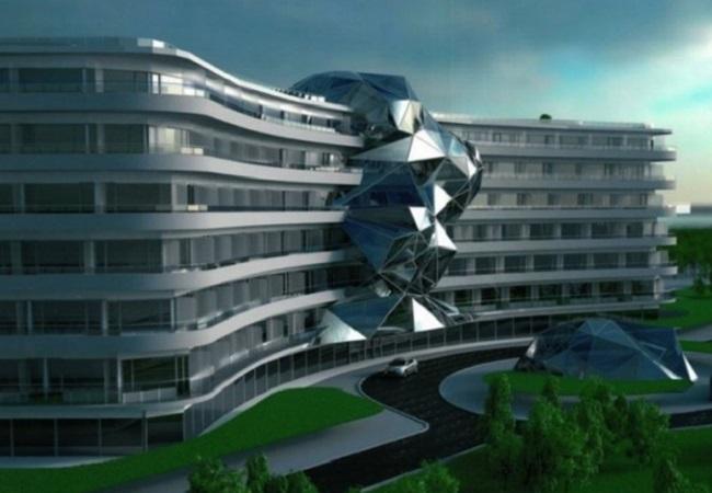 An artist's impression of the future Gołębiewski Hotel in Baltic seaside resort of Pobierowo, northwestern Poland.
