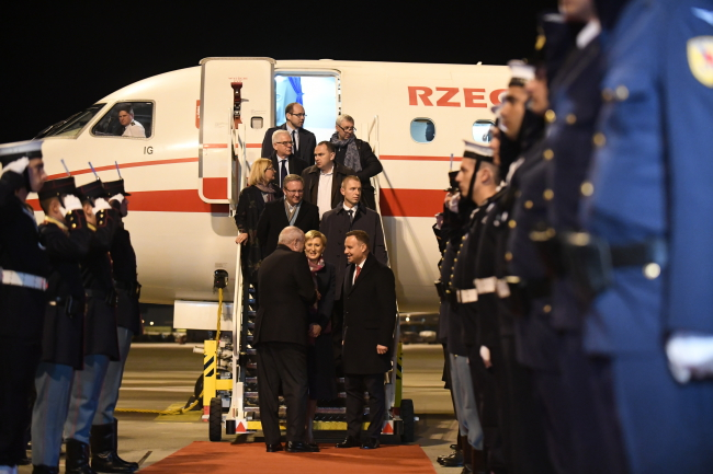 The Polish Presidential plane on the tarmac in Athens. Photo: PAP/Bartłomiej Zborowski.