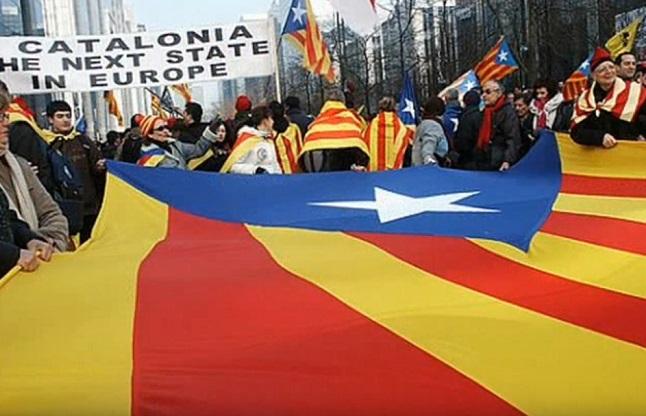 Демонстрація прихильників незалежності Каталонії
