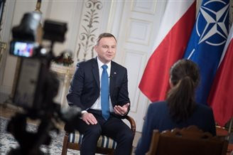 NATO sending out signal of solidarity: Polish president