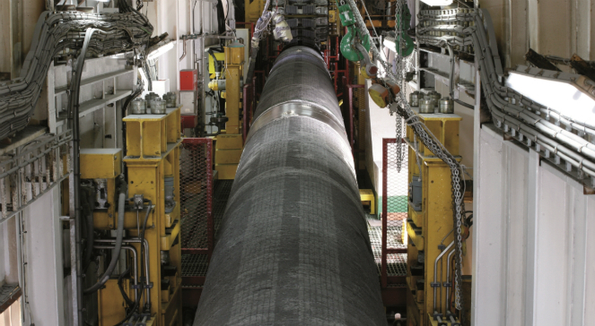 Construction materials for the planned pipeline. Photo: Nord Stream