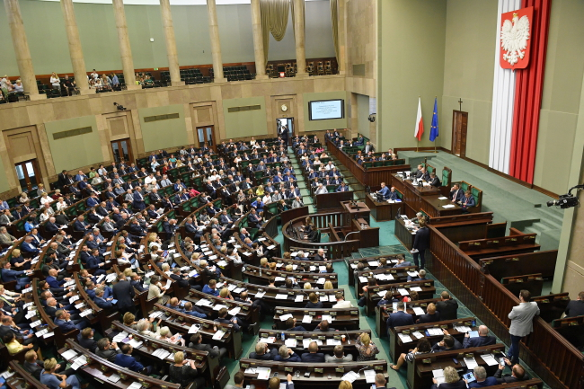 A session of the lower house of Polish parliament. Photo: PAP/Marcin Obara.