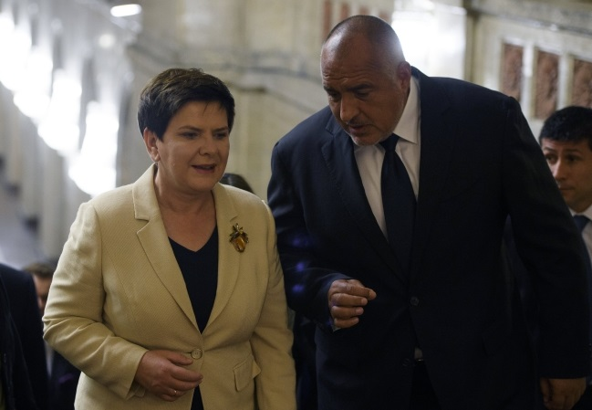 Beata Szydło and Boyko Borisov. Photo: EPA/VASSIL DONEV.