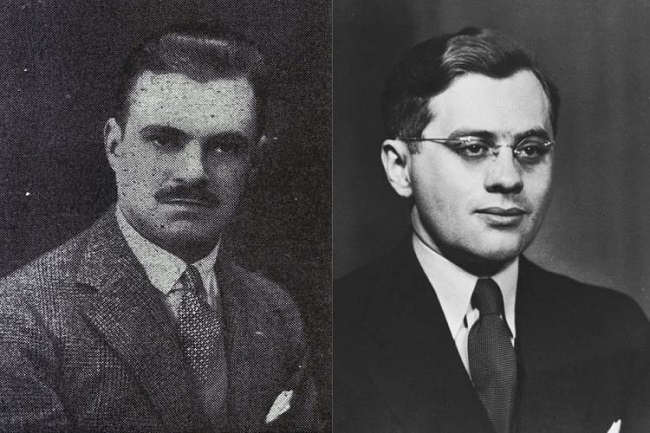 Konstanty Rokicki (links) fabrizierte mithilfe seines Angestellten Juliusz Kühl paraguayische Pässe für 2200 Juden.