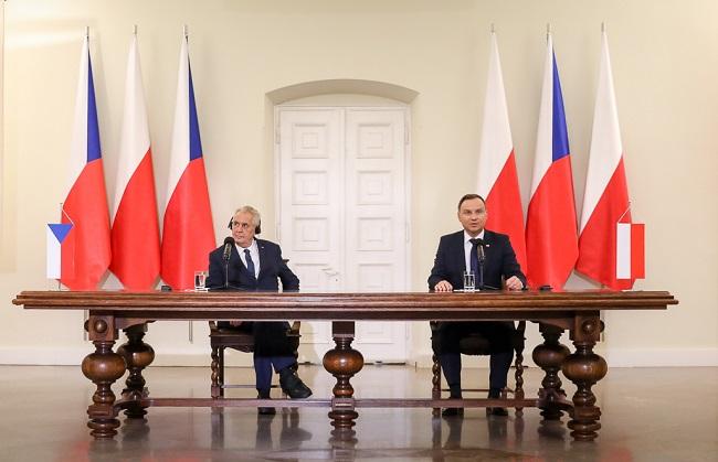 Miloš Zeman and Andrzej Duda. Photo: KPRP/Jakub Szymczuk