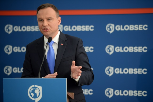 Andrzej Duda at the Globsec Global Security Forum in Bratislava. Photo: PAP/Jacek Turczyk