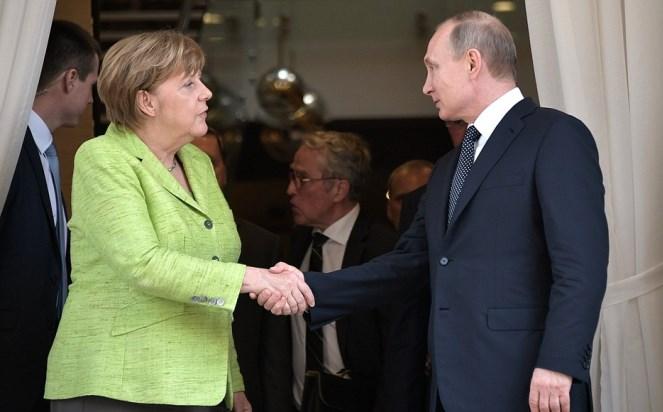 Канцлерка Німеччини Анґела Меркель і президент Росії Владімір Путін