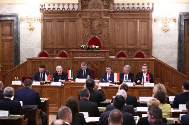 Засідання годів парламентів країн Вишеградської групи в Будапешті, 2 березня 2018 року
