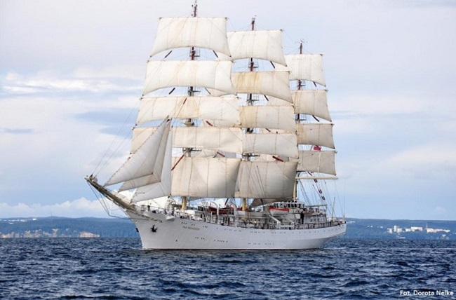 The Dar Młodzieży tall ship. Photo: Dorota Nelke