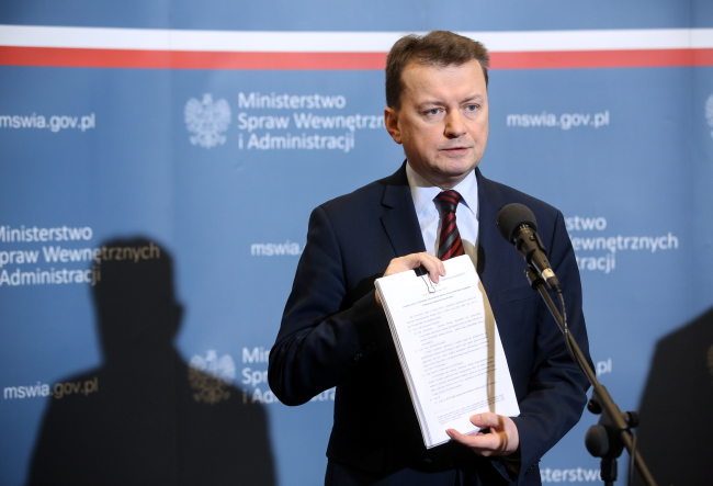 Mariusz Błaszczak. Photo: PAP/Rafał Guz