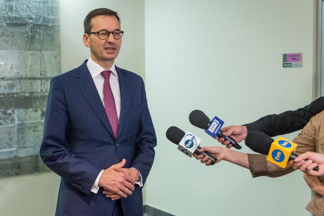 Mateusz Morawiecki. Photo: PAP/Maciej Kulczyński
