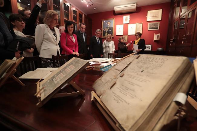 Delegacja Senatu w Bibliotece Polskiej w Londynie