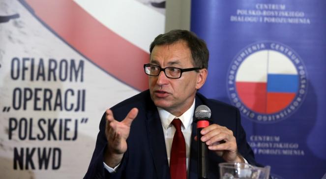 Голова Інституту національної пам'яті Ярослав Шарек під час презентації порталу про масові вбивства НКВС поляків під час Великого терору