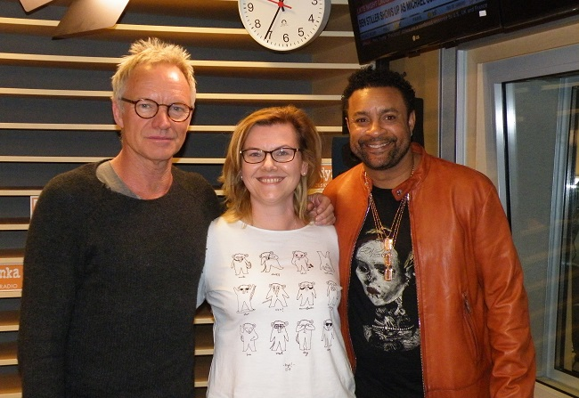 Sting, Danuta Isler and Shaggy. Photo: Andrzej Tłokowski/Polskie Radio.