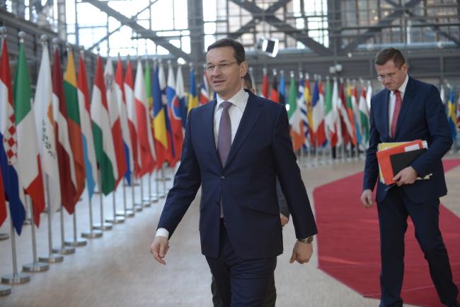 Mateusz Morawiecki in Brussels. Photo: PAP/Marcin Obara