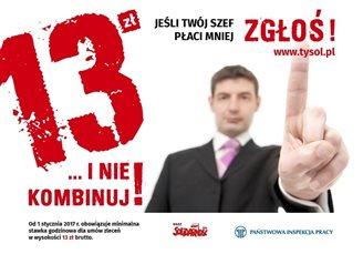 Акция против нечестных работодателей: «13 злотых и не хитри»