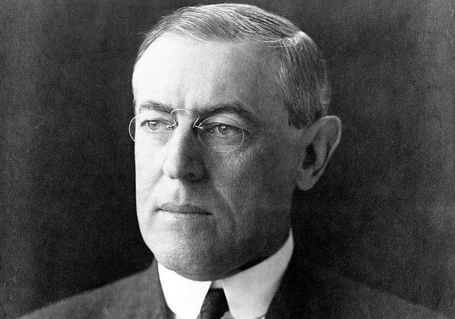 Former US President Thomas Woodrow Wilson