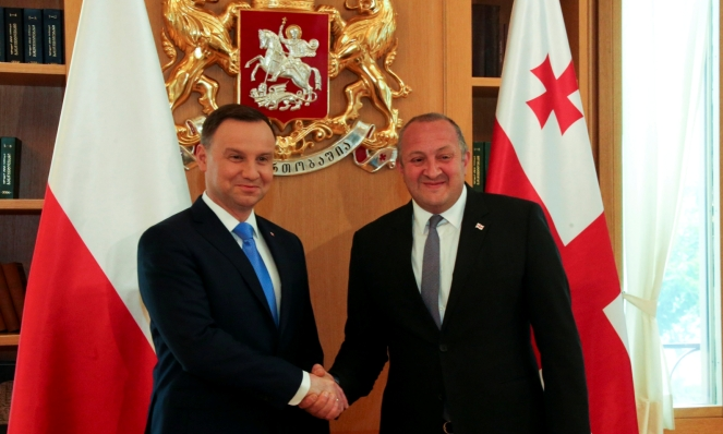 Президенти Польщі та Грузії Анджей Дуда і Ґеорґі Марґвелашвілі