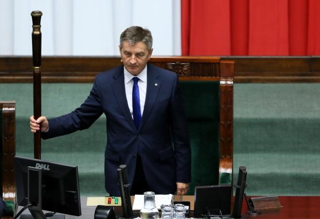 Sejm Speaker Marek Kuchciński. Photo: PAP/Tomasz Gzell