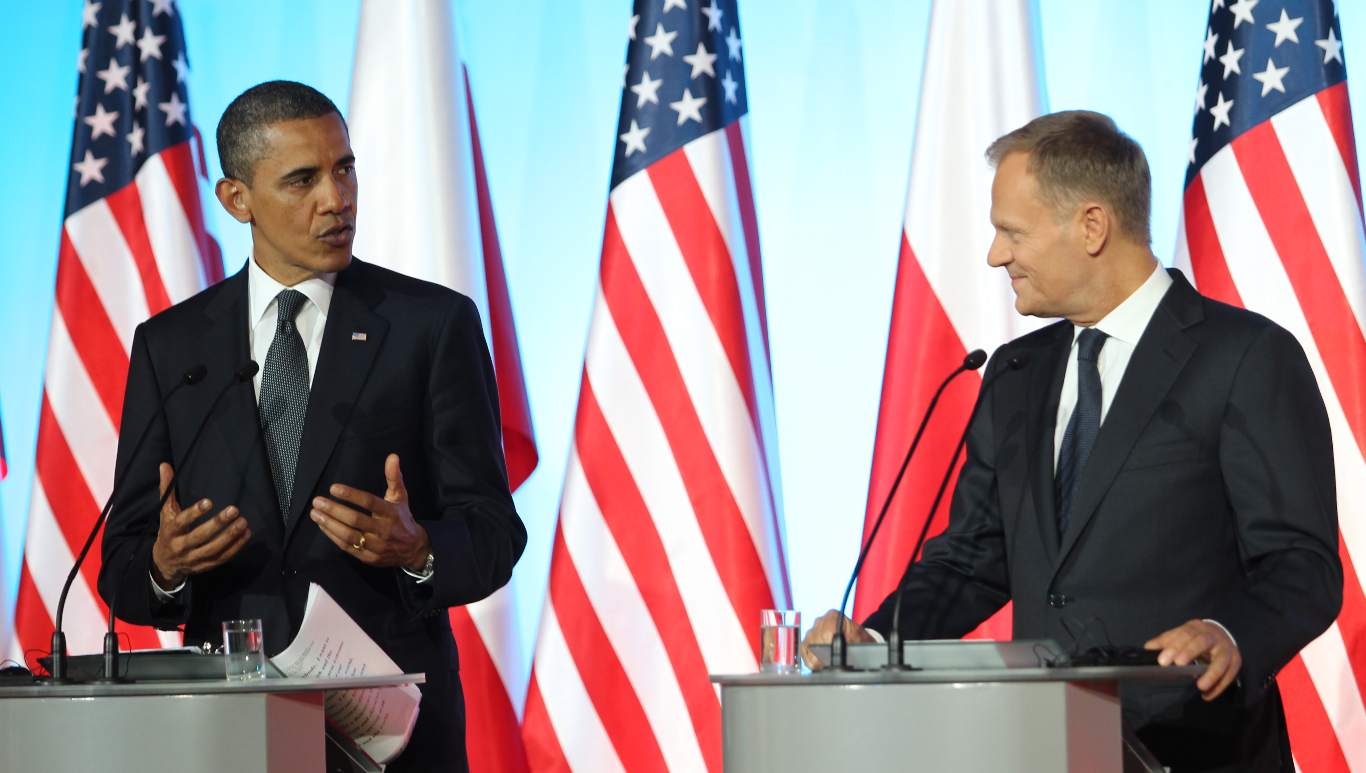 US President Barack Obama meets with PM Donald Tusk in Warsaw. Photo: PAP/Radek Pietruszka