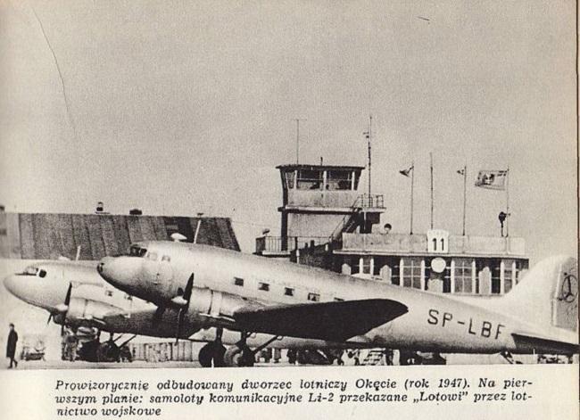 Самалёт Лі-2 авіякампаніі LOT, 1947 год
