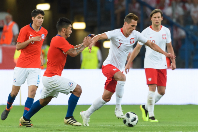 Chile versus Poland. Photo: PAP/Jakub Kaczmarczyk