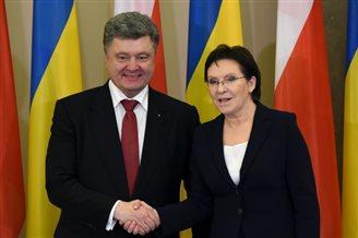 Ukrainian President Poroshenko on Poland visit
