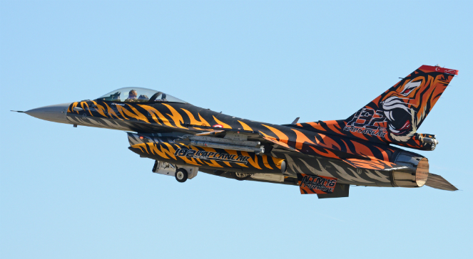 Turecki F-16 w tygrysim malowaniu