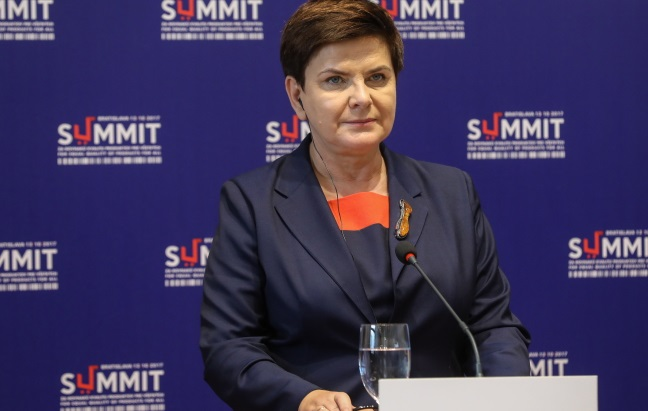 Polish PM Beata Szydło in Bratislava on Friday. Photo: PAP/Rafał Guz