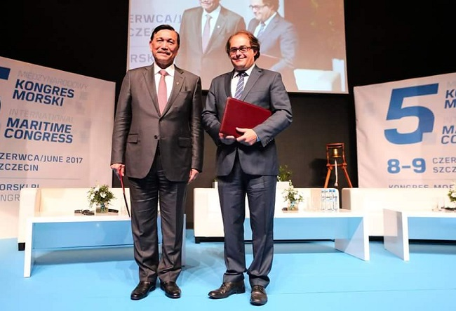 Indonesia's Coordinating Maritime Affairs Minister Luhut Binsar Pandjaitan at the 5th International Maritime Congress in Szczecin. Photo: mgm.gov.pl