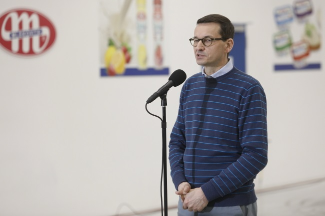 PM Mateusz Morawiecki during a trip to north-eastern Poland. Photo: PAP/Artur Reszko