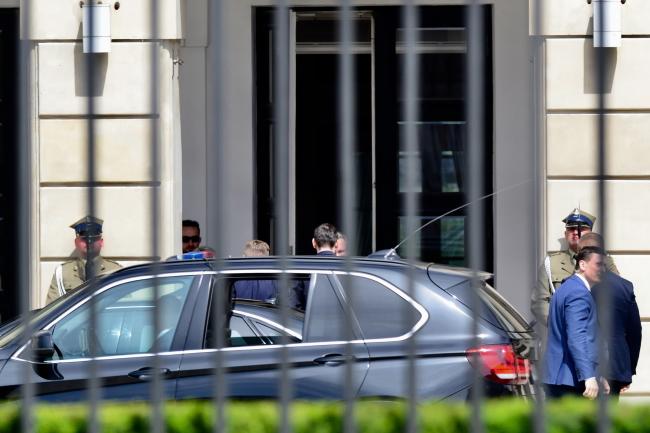 Приезд премьера Польши Матеуша Моравецкого в Президентский дворец
