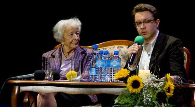 Wisława Szymborska i Michał Rusinek
