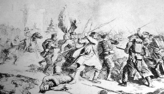 Бій польських повстанців з російськими військами