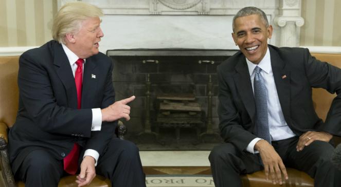 Prezydent-elekt Donald Trump i prezydent USA Barack Obama