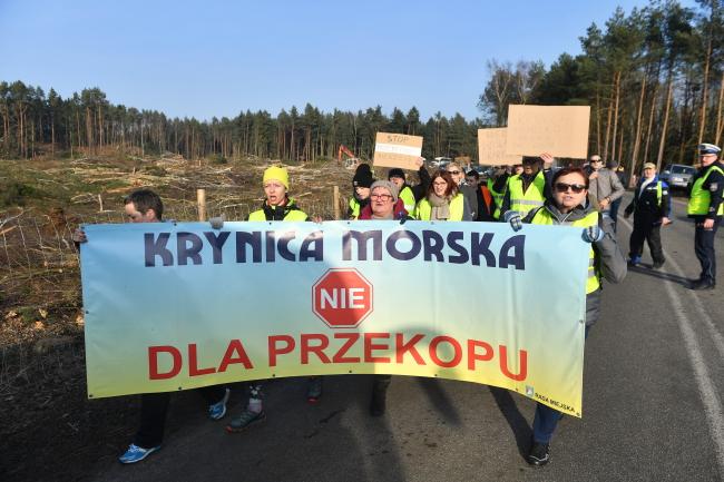Vistula Spit protest