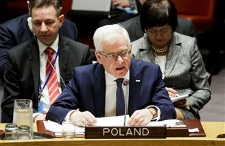 Polish FM addresses UN Security Council