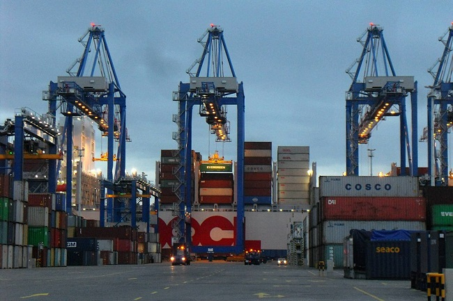 The Deepwater Container Terminal (DCT) in the northern Polish port city of Gdańsk.