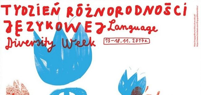 Фрагмент плаката Недели языкового разнообразия в Варшаве.