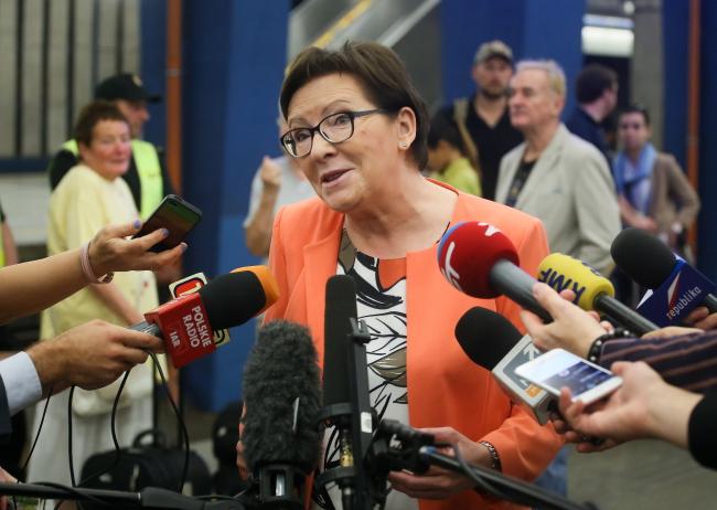Prime Minister Ewa Kopacz. Photo: PAP/Paweł Supernak