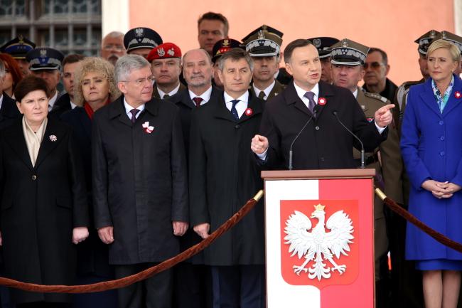 Polish President Duda announced the referendum on Wednesday. Photo: PAP/Leszek Szymański