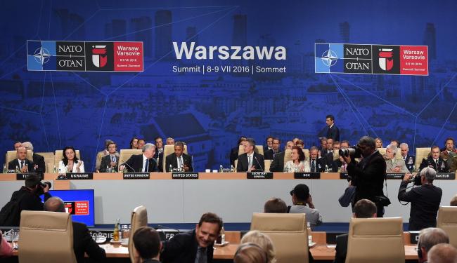 NATO summit in Warsaw. Photo: PAP/Radek Pietruszka