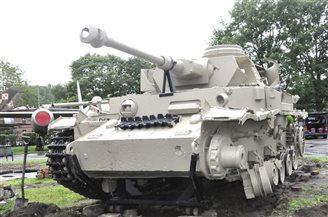 A Panzer IV on display in northwestern Poland