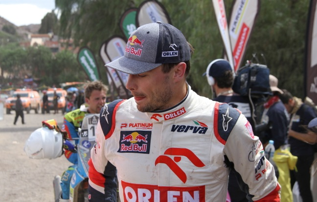 Jakub Przygoński in the Dakar Rally. Photo: PAP/Kryspin Dworak