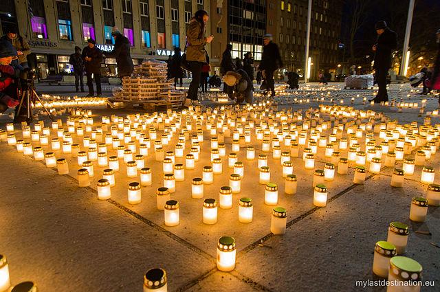 Акция в память о жертвах депортации, Таллин